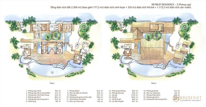 Mặt bằng của dự án Six Senses Saigon River