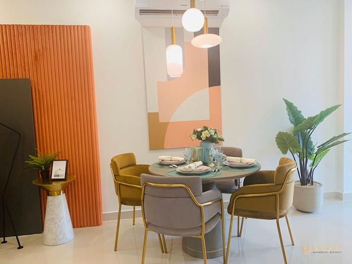Nhà mẫu căn hộ New Galaxy -bàn ăn