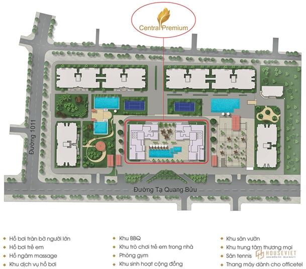 Mặt bằng căn hộ Central Premium Quận 8