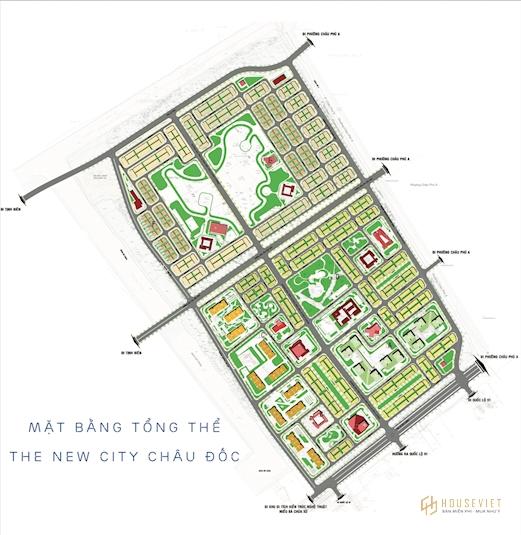 Mặt bằng dự án The New City Châu Đốc