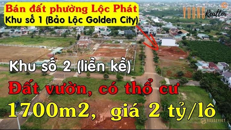 Một kênh Youtube rao bán đất nền dự án có tên thương mại là Bảo Lộc Golden City
