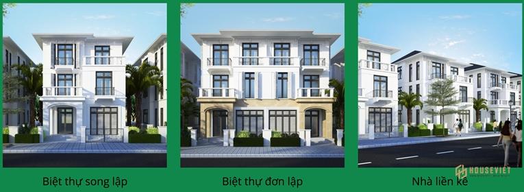Thiết kế nhà phố biệt thự khu đô thị Bắc Hội An