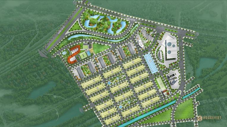 Mặt bằng tổng thể khu đô thị Him Lam Green Park tại Bắc Ninh
