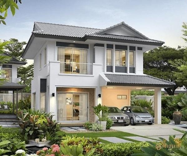 Mẫu nhà 2 tầng đẹp đơn giản hiện đại phù hợp với cả nông thôn và thành thị