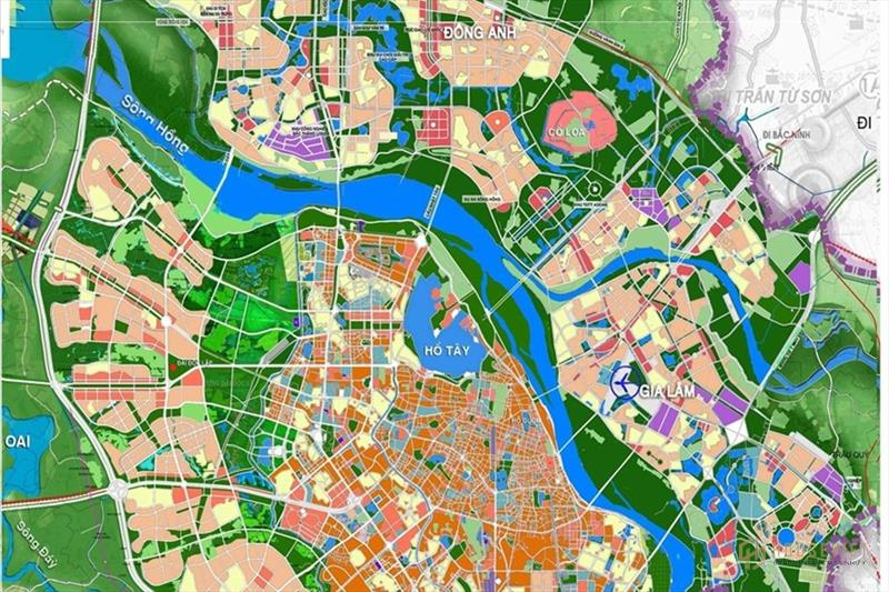 Quy hoạch sông Hồng, bản đồ mới nhất năm 2021