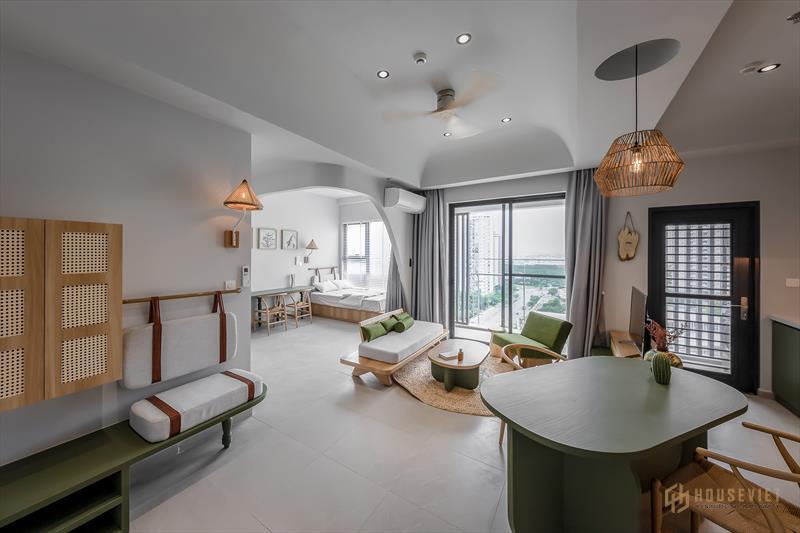 Thiết kế căn hộ chung cư 84 m2 theo phong cách Japandi