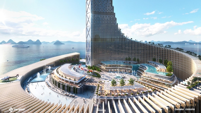 Ngắm nhìn Tháp Domino 99 tầng ở Hạ Long, thiết kế choáng ngợp như khu đô thị nổi trên biển