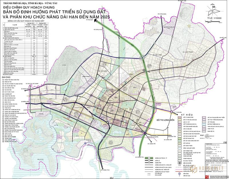 Quy hoạch tỉnh Bà Rịa Vũng Tàu