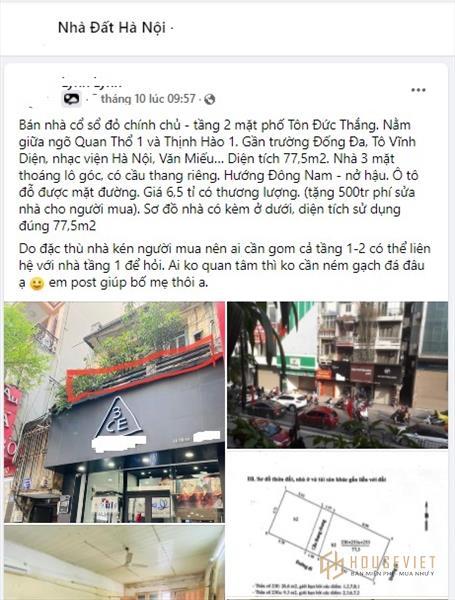 Bi hài rao bán nhà Hà Nội giá trên giời, chủ nhận về toàn 'gạch đá'