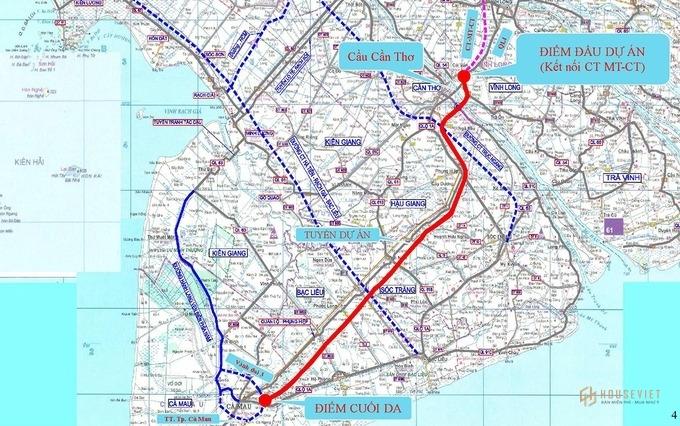 Đường cao tốc Cần Thơ - Cà Mau sẽ bắt đầu khởi công vào năm 2022