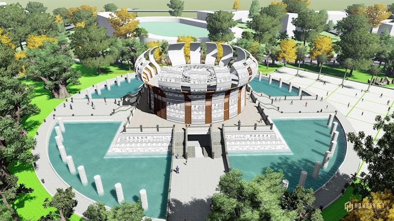 Đền thờ các Vua Hùng gây ấn tượng với thiết kế đặc biệt