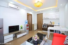 Tòa nhà căn hộ dịch vụ cho thuê căn hộ 1 ngủ 55m2 , 3 mặt thoáng giá thuê 10tr/tháng gần lotte.0909
