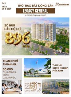 Bán căn hộ Legacy Thuận An, Giá từ 896 triệu/căn. Thanh toán 30% (270 triệu) nhận nhà quá ok