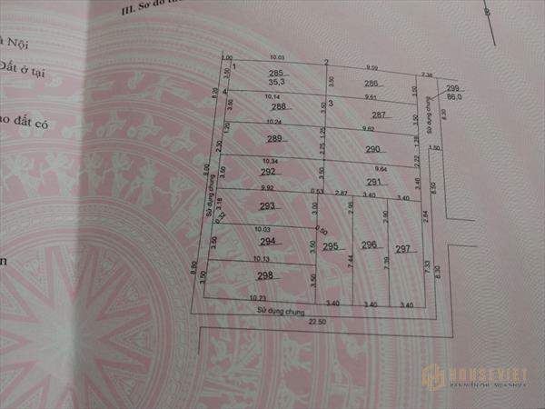 Bán nhanh 34 m2 đất TDP Chính Trung, thị trấn Trâu Quỳ - Gia Lâm – HN