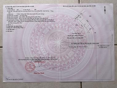 Đất thổ cư mặt tiền quốc lộ 51, thị xã Phú Mỹ đã có sổ, công chứng ngay.