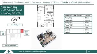 Bán căn góc 2pn đẹp nhất dự án feliz homes giá 1 tỷ 943, hướng đông nam diện tích 65m2