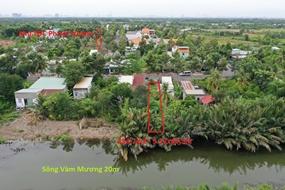 Đất khu dân cư, đường oto, mặt sông rộng phía sau