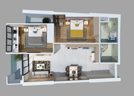 Chung cư cao cấp Gateway VũngTàu giá tốt căn 2 phòng ngủ