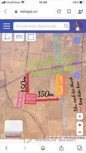 Lô 7647m2 cách đường liên huyện chỉ 140m, gần ngay kênh nước quy hoạnh và khu thanh long hiện hữu