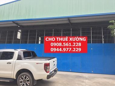 Cho thuê nhà xưởng phường hiệp thành, quận 12. dt; 1000m2 giá 50 triêu/tháng lh: 0908.561.228
