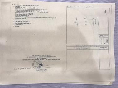 Bán đất siêu rẻ gần chợ 26, đường Nguyễn Văn Tiên, Phường Tân Phong, Biên Hòa, ĐN, giá chỉ 2,35 tỷ