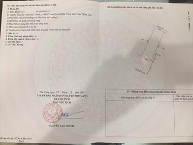 Chính Chủ Cần bán Gấp Lô Đất Vị Trí Đẹp Tại Xã Phú Thanh- Phú Vang