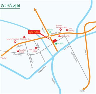 Mở bán Nhà phố Bình Minh, mặt tiền trung tâm thị xã, kinh doanh tốt