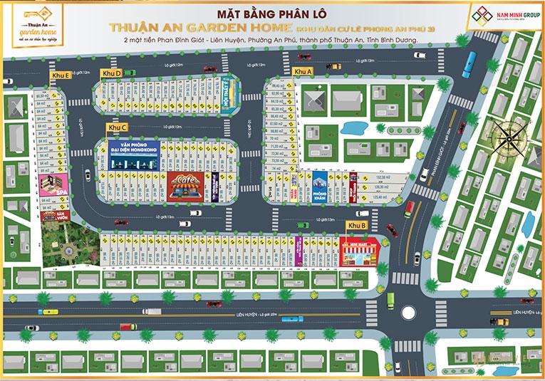 Mặt bằng dự án Thuận An Garden Home An Phú