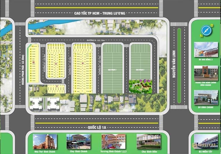 Mặt bằng dự án Bình Chánh New Center
