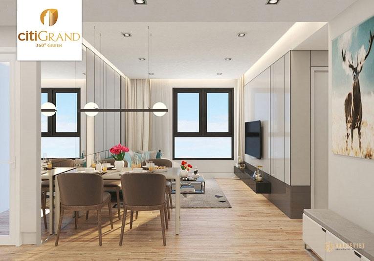 Phòng khách căn hộ Ciit Grand
