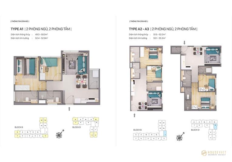 Thiết kế loại căn hộ A - Citi Grand Quận 2