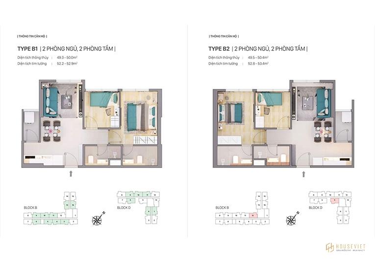 Thiết kế loại căn hộ thuộc dự án Chung cư Citi Grand.