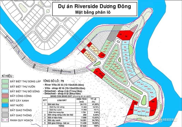 Mặt bằng dự án Royal Riverside Dương Đông Phú Quốc