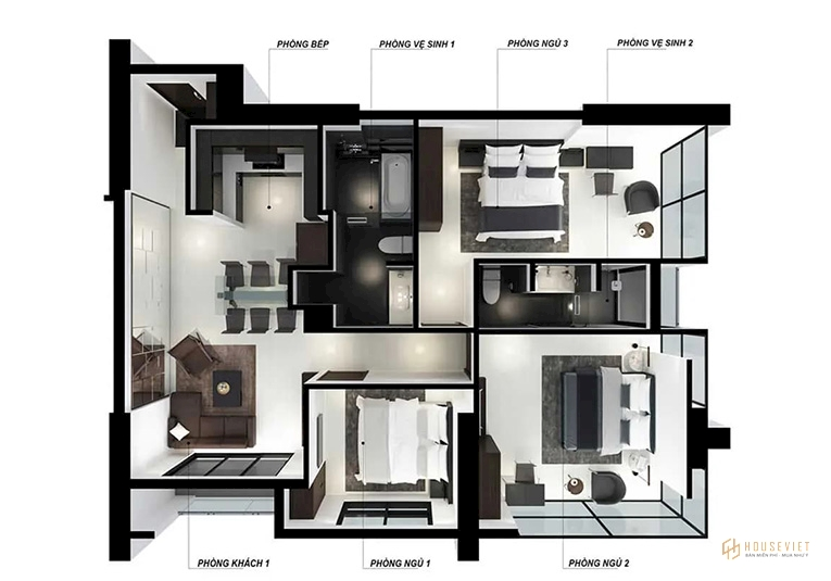 Thiết kế mẫu căn hộ The Royal Đà Nẵng