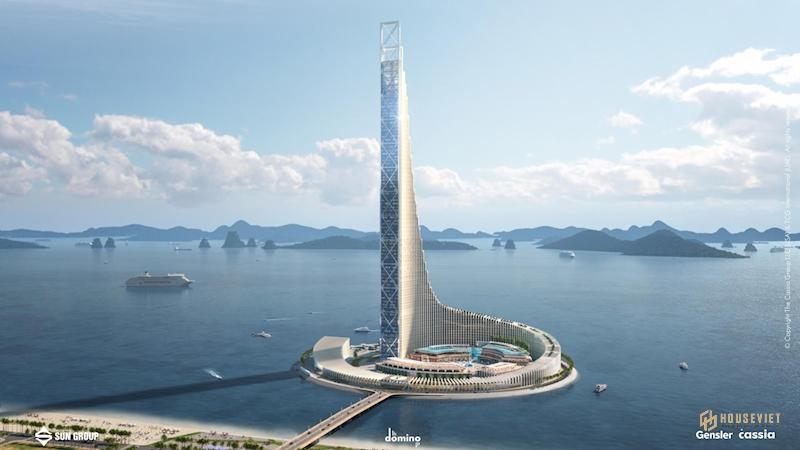 Tháp Domino Hạ Long do SunGroup xây dựng cao 540m tại Bãi Cháy